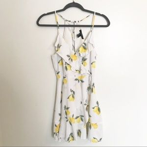 Forever 21 lemon print dress